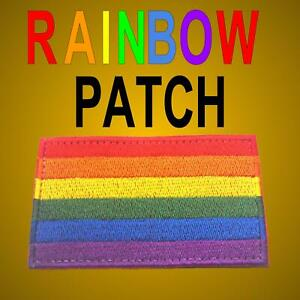 LGBT Rainbow Patch HOOK AND LOOP 50mm x 75mm