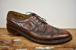 Florsheim Imperial Brown Longwing Gunboat Blucher W/ Brogued Styling Size: 10.5A