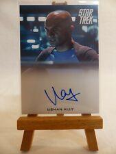 Star Trek Into Darkness autograph card Usman Ally USS Vengeance Bridge Officer