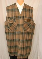 Timberland Plaid Vest Unlined Unstructured ~ 48 XXL