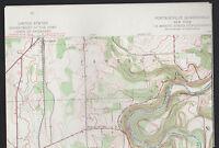 Portageville NY Quadrangle 1943 Topographical Map