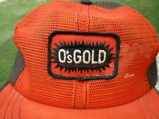 Vintage O's Gold Seed Patch Snap Back Mesh Hat Swingster Farm