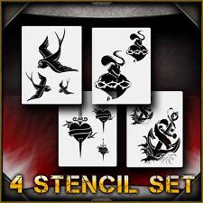 """Tattoo Flash Set"" Airbrush Stencil Template Airsick"