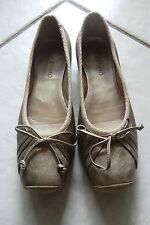 Antiamo Ballerina Schuhe GOLD Leder GR 37 - wie NEU