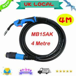 MIG Welding Torch Gun 180A MB15AK Euro Connector for Welder 4M Flexible Hose UK