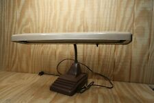 Vintage Industrial Art Deco Gooseneck Desk Fluorescent Lamp Tested & Works!!