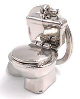 Klo Toilette Sanitär Schlüsselanhänger aus Metall