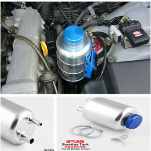 Fuel Power Steering Tank Fluid Reservoir Aluminum Racing Breather Tank Quality