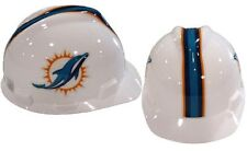 "MSA V-Gard Cap Type Miami Dolphins NFL Hard Hat ""RATCHET""Suspension"