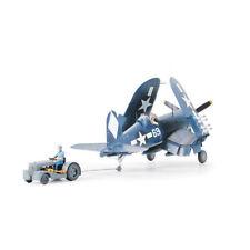 61085 Tamiya Corsair F4U-1D With Moto Tug 1/48th Plastic Kit 1/48 Aircraft