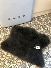 Half Sheepskin Rug Dark Grey Seat Cover /  Pet Bed / Motorbike Motorcycle Seat