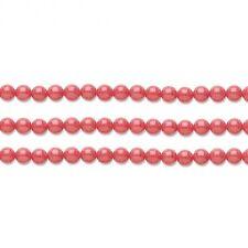 Round Malaysia Jade Beads (Dyed) Salmon  6mm 16 Inch Strand