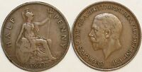 1911 to 1936 George V Bronze Halfpenny Your Choice of Date   / Year Multibuy