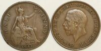 1911 to 1936 George V Bronze Halfpenny Your Choice of Date
