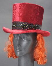 Disney Parks Mad Hatter Top Hat w Hair Youth New w Tag Costume Halloween Cosplay