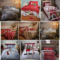 CATHERINE LANSFIELD SANTA FATHER CHRISTMAS DUVET QUILT COVER XMAS BEDDING SET