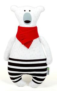 Teddy Bear Soft Toy, 34CM Polar Bear With Red Scarf Soft Toy, Teddy Bear Toy