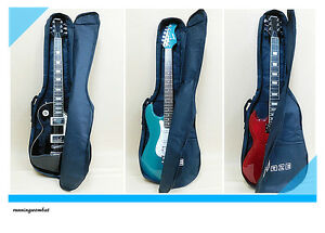 Haze Gig Bag for Electric Guitar Fits LP Tele Strat Black With free picks