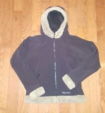 MARMOT Furlong Jacket Women's M Black Faux Fur Hood Soft Shell Winter Snow Coat