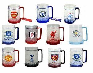 Freezer Mug Pint Glass - Plastic Pint Beer Tankard For Drinks - Football Gift