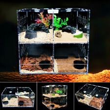 1/2/4 Grid Reptile Cage Breeding Box Tarantula Insect Lizard Amphibian Tank Tool