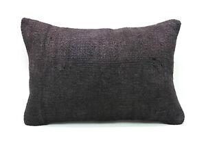 """Kilim Lumbar Pillow, 16""""x24"""", Decorative Throw Pillow, Handmade Vintage Pillow"""