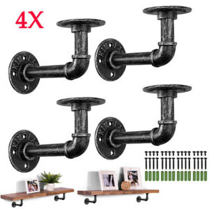 4X Pipe Shelf Brackets Shelves wooden Wall Floating Shelf For Scaffolding Board