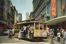 "San Francisco Cable Car Turntable Vintage Lincoln Stamp Jumbo 9""x6"" Pc 1959 Rare"