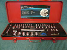 "Sterling 52-Piece Ratchet Socket Set/Metal Case(1/4""3/8""&1/2"" drive(item#S249)"