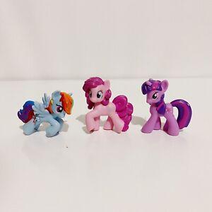 3 x My Little Pony Rainbow Dash Pinkie Pie Twilight Sparkle Mini Figures Lot