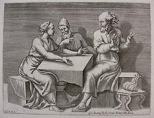 Diana scultori 'ésteres/Esther con ahasveros/ahasuerus y Haman' B. 32 ~ 1560
