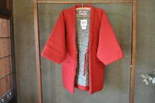 Arare Hanten Jacket Haori Womens Free Size Red Waves Seigaiha