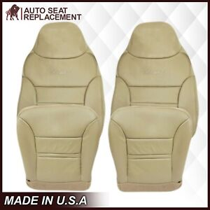 2000 2001 Ford Excursion Limited XLT Leather Seat Covers Tan-choose bottom back