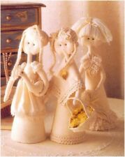 Three Country Girl Dolls Diagram Sewing Pattern S10078 (Not finished items)
