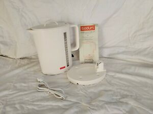 Bodum 5500-01US Ibis Cordless Electric 57-Ounce Water Kettle, White - New in BOX