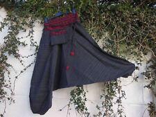 Paracaídas más Cortos Harén Pantalones Gris Negro Rojo Tribal ajuste étnico hippy BNWT