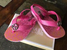 Michael Kors Endine Glitter Baby & toddler girls pink flip flops sandals 5,6,7,8