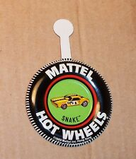 HOT WHEELS Mattel Vintage Redline SNAKE FUNNY CAR Tin Button Badge NICE