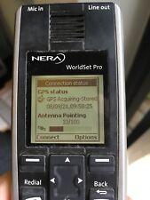 Nera WorldPro Antenna Unit bgan Inmarsat with handset and case