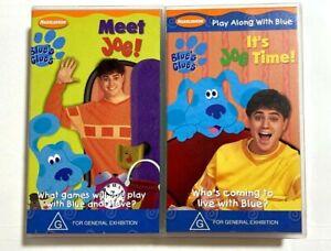 Blue's Clues x2: Meet Joe! / It's Joe Time! - ULTRA RARE Nickelodeon VHS Tapes