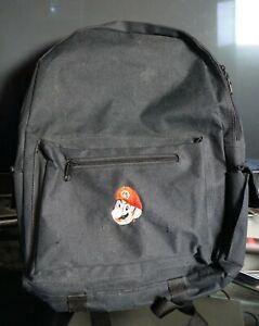 Vintage 90's Black Super Mario 64-Era Backpack ~Walmart N64 N-Crew