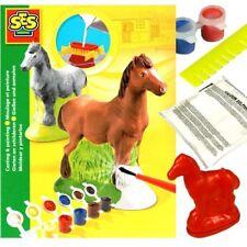 Gips-Bastelset Pferdchen, Gipsfiguren selber giessen und bemalen, 13-teilig