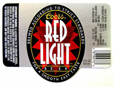 Coors Brewing Co COORS RED LIGHT BEER label CO 12oz Holograph/prismatic ACCENTS