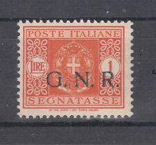 1943 RSI GNR BRESCIA I TIPO 1° TIRATURA 1 LIRA NUOVO** SEGNATASSE $$$$$$1RSIS1