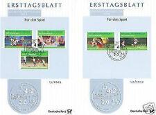 BRD 2003: Fußball-WM Sport-Ersttagsblätter der Nr 2324-2328 mit Bonner Stempeln!