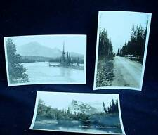 3 Vintage RPPC Real Photo Postcard BANFF NATIONAL PARK & JASPER Mountain River