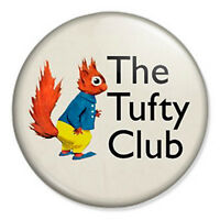 "The Tufty Club 25mm 1"" Pin Badge Button Fluffytail Elsie Mills RoSPA 60s Vintage"