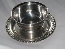 ONIEDA Sterling Silverplate Vintage Gravy Bowl Kitchen Restaurant Dining Dish
