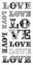 Inkadinkado claro Sellos Con Estampado De Amor 60-30335 Palabras De Amor