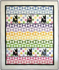 New Pieced and Applique Quilt Pattern  SCOTTIES & DOTS  52x61